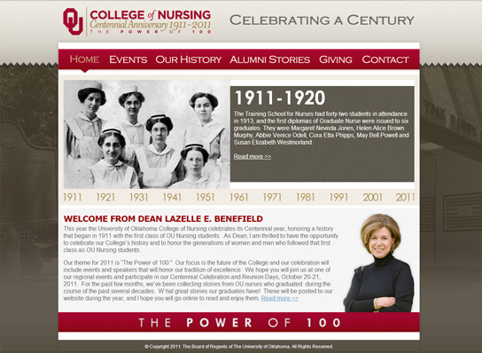 The OU College of Nursing Centennial